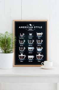 "Plakat ""AMERICAN STYLE COFFEE"""