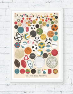 "Plakat ""The great collection of 127 balls"""